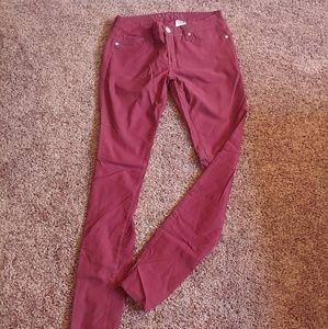 V.I.P Jeans burgundy skinny pants